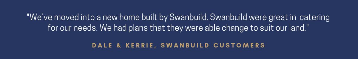 Swanbuild testimonial
